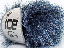 Lot of 8 Skeins Ice Yarns EYELASH Knitting Wool Blue Grey