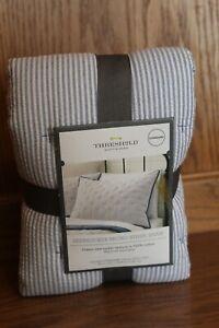 Threshold Seersucker Micro Stripe Standard Sham Blue/White New