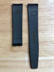 Vintage Original Omega Corfam watch strap 19mm unused black