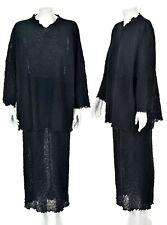ONA NEW YORK TOKYO Oversized 2-Pc Dress Knit Dress ONE SIZE