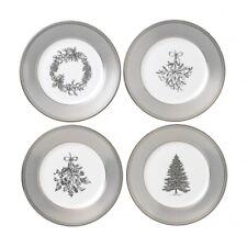 Wedgwood Winter White Christmas Salad Plate Set of 4 New # 40032848