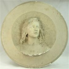 RAOUL LARCHE GRAND PLATRE D'ATELIER 67 cm L'ENFANT JESUS AUTH. Ca.1900 RARE !