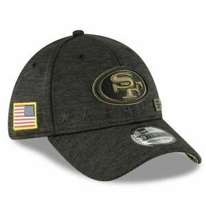 SAN FRANCISCO 49ERS NFL SALUTE TO SERVICE NEW ERA 39THIRTY FLEX SZ LG-XL HAT NWT