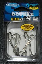 Owner Saltwater Double Hooks 5642-139 Size 3/0 - 4 pack - 2X Strong Lure Hooks