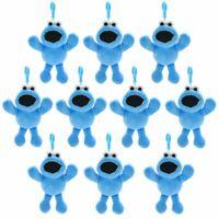 New 10PCS Wholesales Sesame Street Cookie Monster Plush Ornament Dolls Keychains