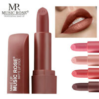 MUSIC ROSE Velvet Matte Waterproof Long Lasting Lipstick Lip Gloss Makeup