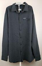 Columbia Omni-Shade Shirt Men's Short Sleeve Button Down Dark Grey Reg Fit L