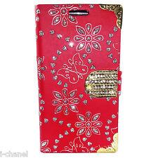 Magnetic Designer Diamond Leather Wallet Case Cover S3 4 5C 6 MINI Z3 HTC 610 20