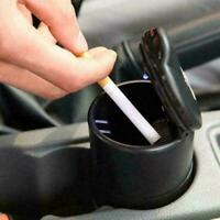 LED Auto Car Truck Cigarette Smoke Ashtray Ash Cylinder For Offiice Home Ho Z8O5