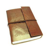 Fair Trade Handmade Large Eco Embossed Leather Journal Diary Notebook