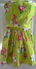 Beautiful Hollister Summer Dress Juniors Size XS Strapless Hawaiian Flowers Lime