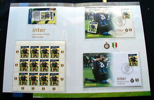2009 Italy soccer football INTER official folder card stamps postcard cover FDC