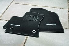 Toyota Corolla AT 2014 Black Carpet Mats with Amber Thread Set of 4 - OEM NEW!