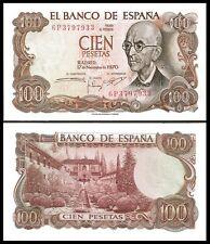Spain 100 PESETAS 1970 P 152 UNC