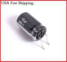 (2PCS) 10UF 450V PANASONIC RADIAL ELECTROLYTIC CAPACITORS.12.5X20MM.CE ED