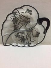 Candy Nut Dish Tray Canapé Butterfly Cherry Handle