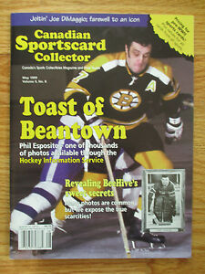 Canadian Sportscard Collector PHIL ESPOSITO Toast of Beantown May 1999 Magazine