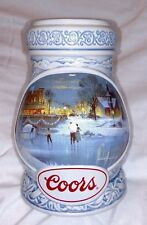 COORS BEER STEIN 1997 Edition 27716 Seasons of the Heart Ice Skating Kovach Beer