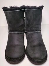 UGG BAILEY BOW II BLACK SUEDE WOMEN'S WINTER BOOTS SIZE 5