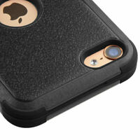 iPod Touch 5th / 6th Gen Armor Impact Hybrid Hard Rubber Skin Case Cover Black