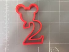 Mickey Mouse Number Two-2nd Year Birthday Cookie Cutter