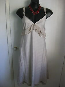 SIZE 18 SMART FLATTERING RUFFLED SEQUINNED LACE DETAILED S/LESS SUMMER DRESS JOI