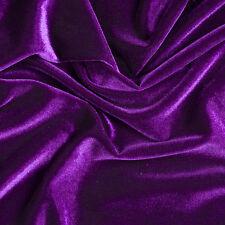 Purple Stretch VELVET Apparel Dress Costume Fabric - 25 Yard Bolt Rol