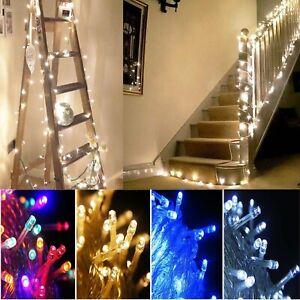 Mains Plug in Fairy Lights Flashing Starry Christmas Tree Garden Outdoor Decor