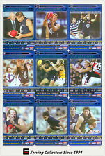 2006 AFL Teamcoach Tradinging Card Blue Platinum Team Set Carlton (9)