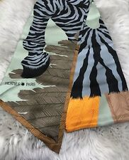NWT Hermes Maxi Twilly Zebra Pegasus by Alice Shirley Vert/Gris/Orange