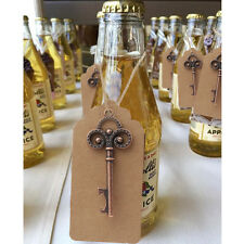 50pcs Vintage Skeleton Key Beer Bottle Opener with Kraft Tag Card Wedding Favors