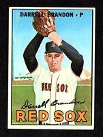 1967 Topps #117 Darrell Brandon Boston Red Sox Vintage Baseball Card EX