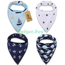 IZIV 4pcs set Baby Kids Bibs Bandana Adjustable Saliva Towel Triangle Head Scarf