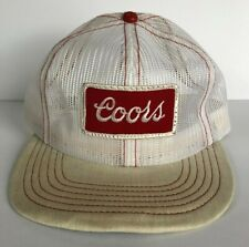 Rare Vintage Coors Beer Trucker Hat All Over Mesh Cap Made in USA with Defect