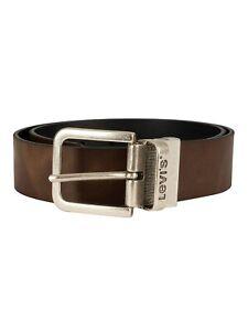 Levi's Men's Reversible Leather Belt, Brown