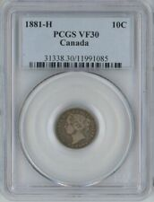 Canada 1881-H silver 10 cents PCGS VF30