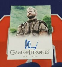 2020 The Complete Game of Thrones Ian Davies FB Autograph