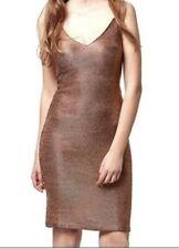 Topshop Christmas Wedding Pink Chainmail Metallic Bodycon Midi Dress 6 BNWOT