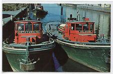 Tug Boats North Carolina Oklahoma Buffalo Harbor New York postcard