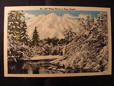 When Winter Is King postcard Alaska