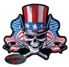 Uncle Sam SKULL RIDER PATCH RICAMATE aufbügler BIKER ROCKER MOTO HARLEY USA