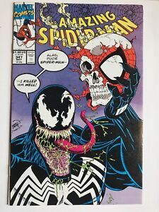AMAZING SPIDER-MAN 347 VF WHITE PAGES EARLY VENOM APPEARANCE