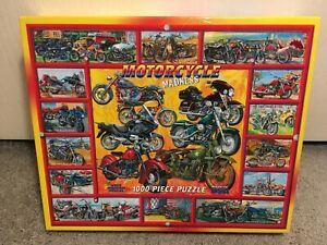 White Mountain Motorcycle Madness 1000 Piece Jigsaw Puzzle Biker Rider