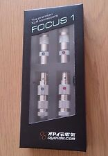 Oyaide FOCUS 1 XLR Plug 4pcs Set (male x 2pcs, female x 2pcs) F/S from JAPAN