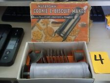 NUTBROWN COOKIE & BISCUIT MAKER KIT ENGLAND #1505 PIPING DECORATIONS POTATOES