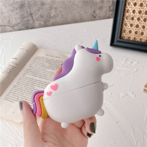 For AirPods Pro 2 1 Case Cute Unicorn Silicone Earphone Charging Box Cover