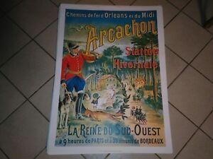 Affiche poster 50cm par 70cm Arcachon chemins de fer Banania chocolat Meyers