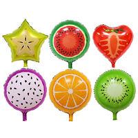Fruits Foil Balloons Helium Ballons Birthday Decoration Party Supplies LTAU