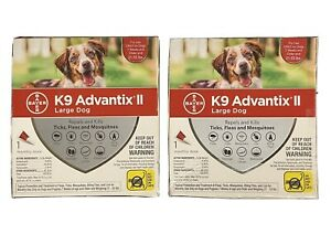 (2 Mos) K9 Advantix II Flea and Tick Prevention for Large Dogs, 21-55 Pounds.