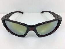 Dragon Chrome Sunglasses Jet Black Red Frame with Yellow Flash Lens 720-2277 New